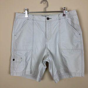 Eddie Bauer Khaki Cargo Shorts